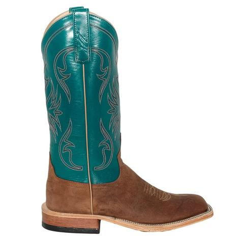 Anderson Bean Womens Red Dirt Kangaroo Garganey Kidskin Teal Boots