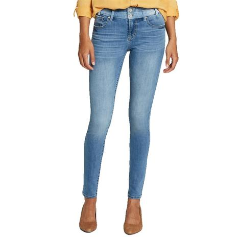Dear John Denim Gisele High Rise Two Tone Double Waistband Women's Jeans