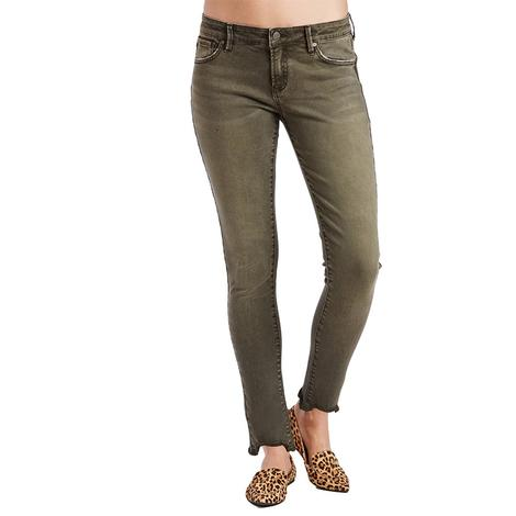 Dear John Denim Olive Skinny Jean for Women