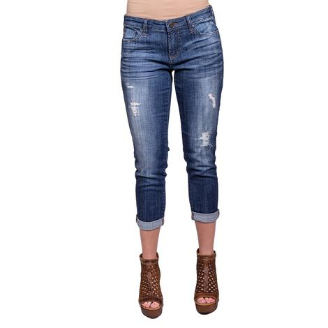 Dear John Womens Madison Girlfriend Jeans