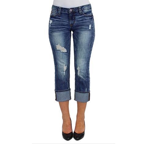 Dear John Womens Dynasty Playback Cuffed Jeans