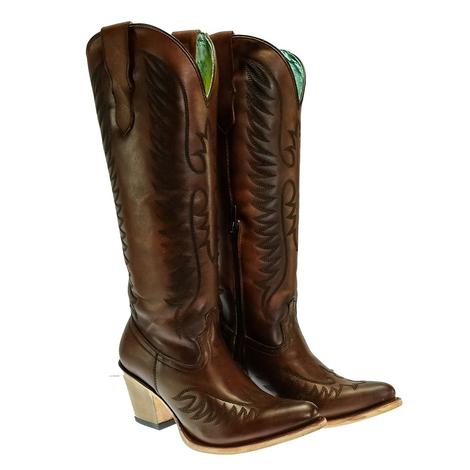 Corral Cognac Tall Zip Women's Boots