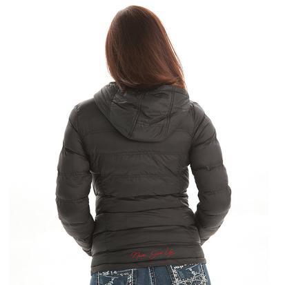 Cowgirl Tuff Black Nylon Coat