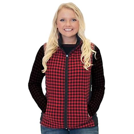 Cowgirl Tuff Women's Quilted Reversible Buffalo Plaid Vest