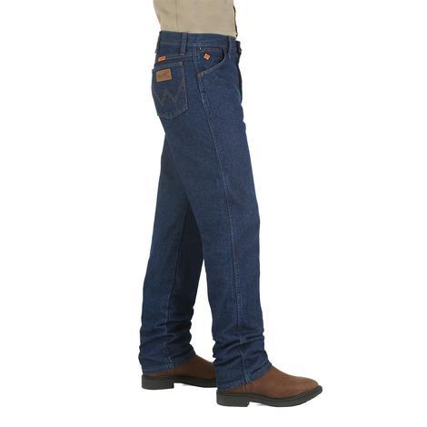 Wrangler Mens Flame Resistant Original Fit Straight Leg Jeans