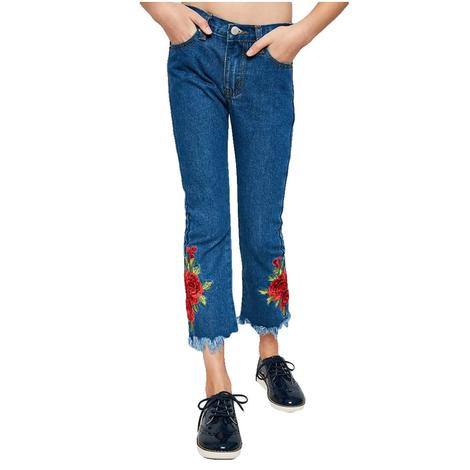 Hayden Rose Embroidered Girl's Jeans