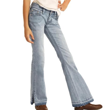 Rock and Roll Light Wash Girl's Trouser Jeans