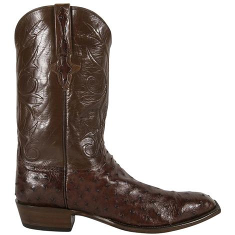 Lucchese Classics Mens Brown Sienna Pin Buffalo Cowboy Boots