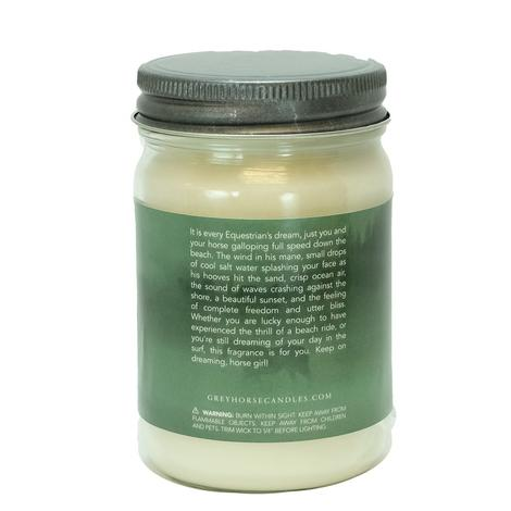 Grey Horse Beach Ride Soy Candle