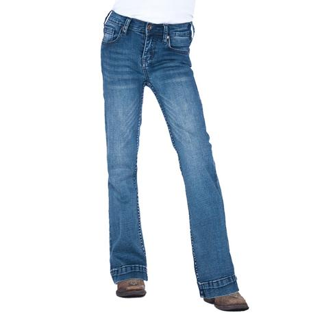 Cowgirl Tuff Medium Wash Girl's Trouser Jeans