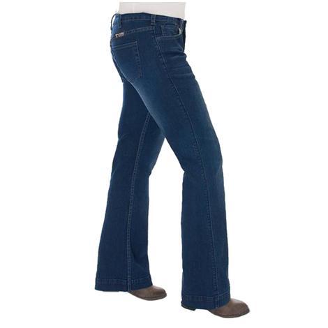Cowgirl Tuff Girls Dark Wash Trouser Jeans