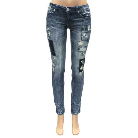 Grace in LA Girl's Patch Skinny Jeans