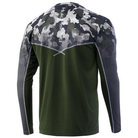 HUK Icon X Refraction Camo Fade Long Sleeve Men's Shirt