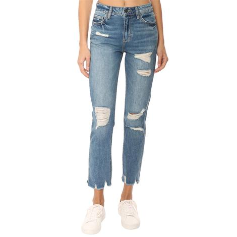 Hidden Jeans Straight Leg Distressed Denim Women's Jeans