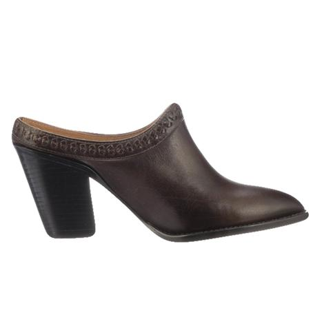 Lucchese Pattie Chocolate Mid Heel Women's Mule