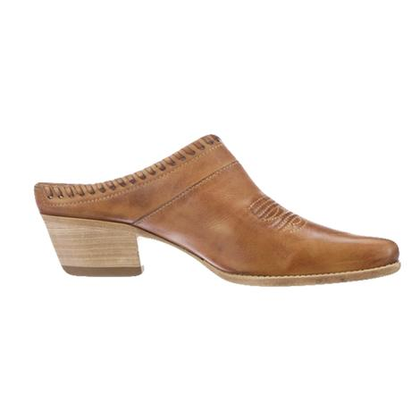 Lucchese Kim Golden Tan Low Heel Women's Mule