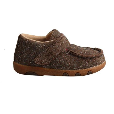 Twisted X Chocolate Shimmer Infant Driving Moc