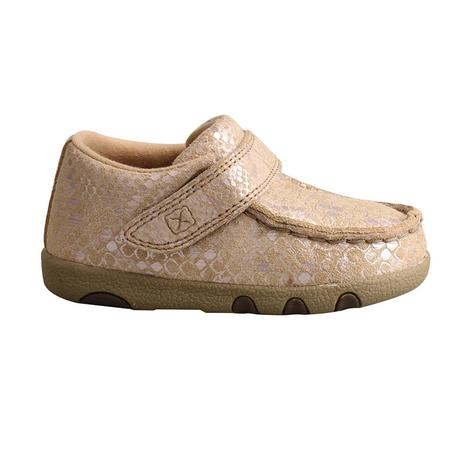 Twisted X Snake Print Infant Driving Moc
