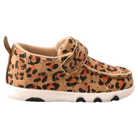 Twisted X Leopard Print Driving Moc for Infants