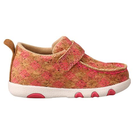 Twisted X Pink Printed Infant Driving Moc
