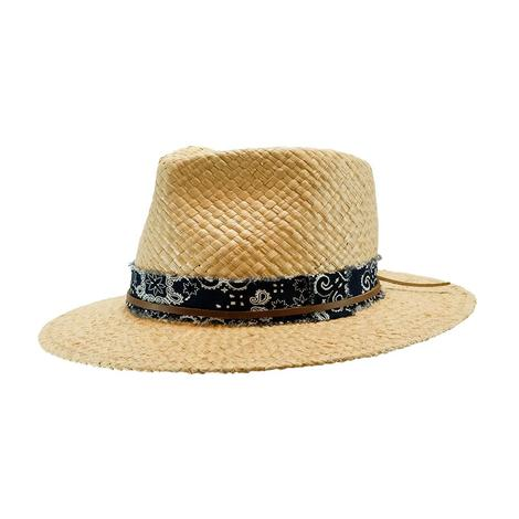 Wyeth Adam Straw Hat Bandana Trim