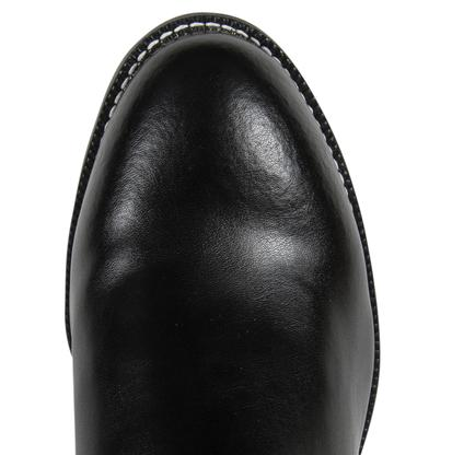 Justin Mens Classic Black Leather Roper Cowboy Boots