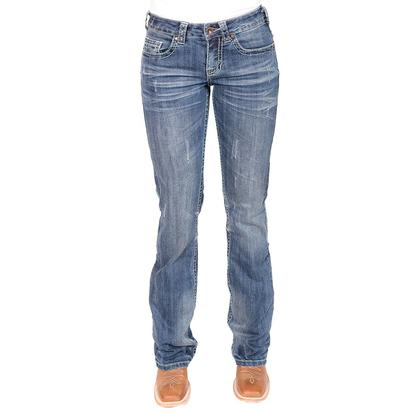 Cowgirl Tuff Womens Brave Wings Feather Jeans