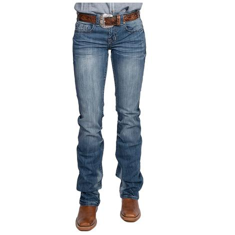 Cowgirl Tuff Womens Brave Wings Silver Jeans