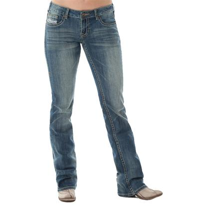 Cowgirl Tuff Womens Don't Fence Me In Jeans - Medium Wash