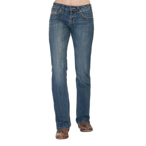 Cowgirl Tuff Women's Hustle Jeans With Faux Pocket