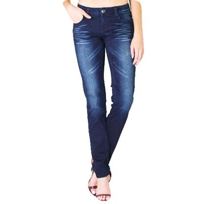 Grace In LA Womens Dark Blue Skinny Jeans