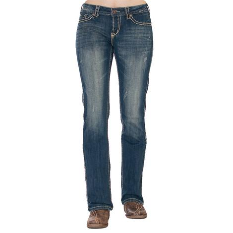 Cowgirl Tuff Women's Never Give Up Naturtal Waist Jeans