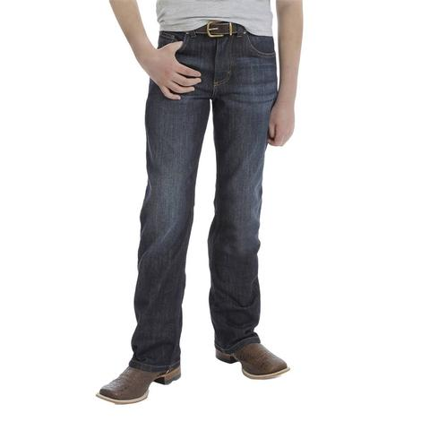 Wrangler Retro Fit Relaxed Anders Wash Bootcut Boy's Jeans - Size 1 Toddler-7