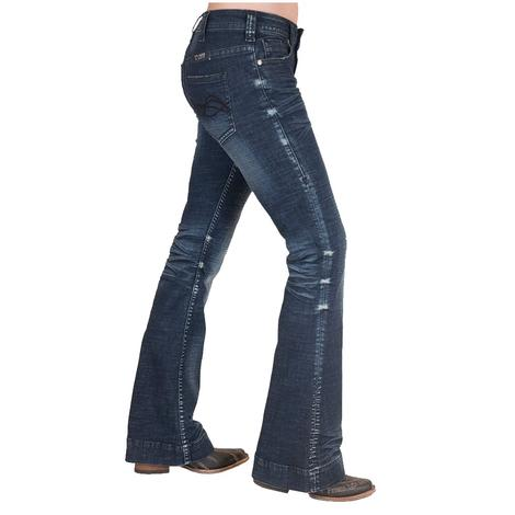 Cowgirl Tuff Sapphire Dark Wash Women's Trouser Jeans