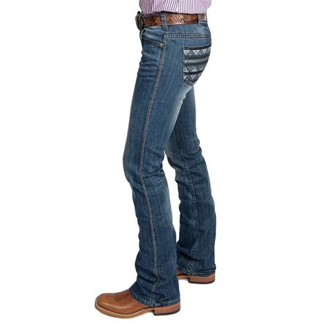 Cowgirl Tuff Womens Slate Patch Pocket Jeans