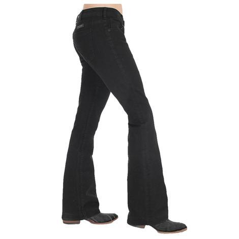 Cowgirl Tuff Women's Black Trouser Jeans