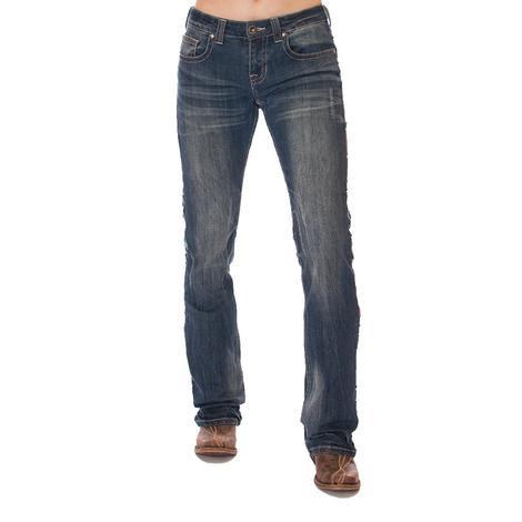 Cowgirl Tuff Wild Pathmaker Arrow Stitch Western Jeans
