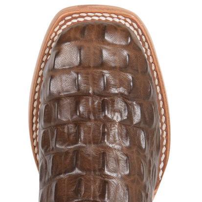 Anderson Bean Kids Chocolate Nile Caiman Print Boots