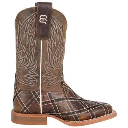 Anderson Bean Kids' Brown Cross Stitched Boots