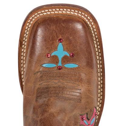 Tony Lama Womens Tan Saigets Worn Goat San Saba Western Boots
