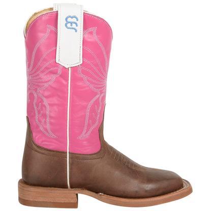 Anderson Bean Toddler/Kids Antique Bone Goat Boots w/ Pink Glove Top