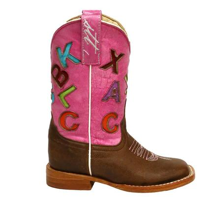Anderson Bean Pink ABC Kids Cowboy Boots
