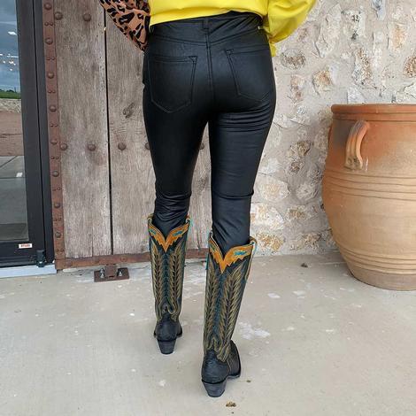 Kancan Women's High Rise Matte Faux Leather Pants