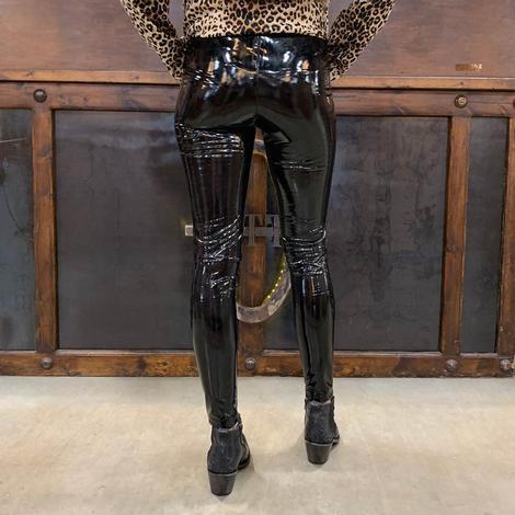 Kancan Women's Faux Leather Skinny Leggings