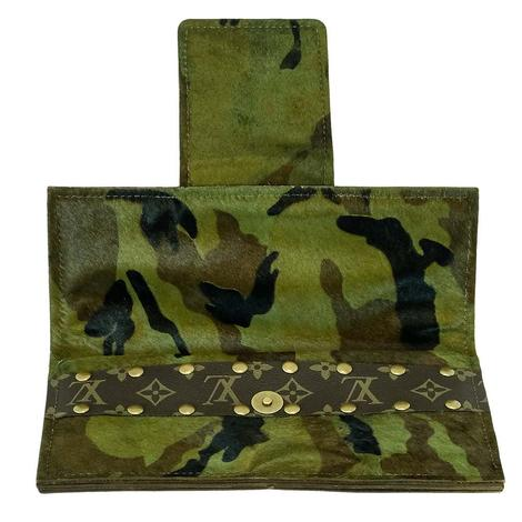 Camo Luis Vuitton Strip Wallet