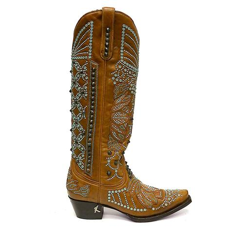 Lane By Kippys Womens Victoria Spiked Western Boots