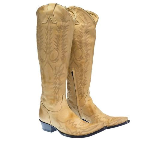 Old Gringo Mayra Straw Tan Taupe Women's Boots