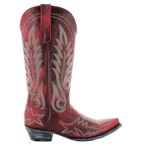 Old Gringo Womens Extended Calf Red Nevada Relaxed Fit Boots