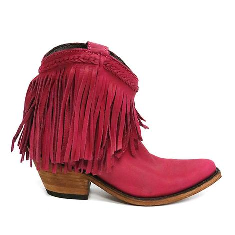 Liberty Black Womens Short Fringe Boots