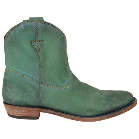 Liberty Black Womens Turquoise Shortie Boots